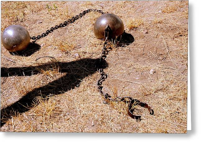 Ball chain greeting cards page 8 of 8 fine art america slavery ball and chain greeting card m4hsunfo
