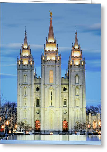 Slc Temple Blue Greeting Card
