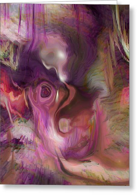 Sleep Of No Dreaming Greeting Card by Linda Sannuti