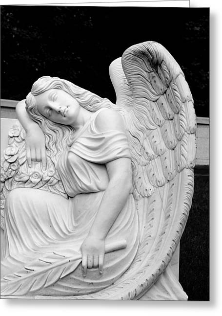 Sleeping Angel Greeting Card by Jean Haynes