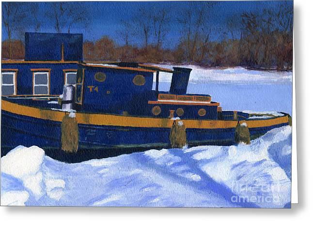 Sleeping Barge Greeting Card