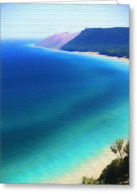 Sleeping Bear Dunes Barn Wood Greeting Card