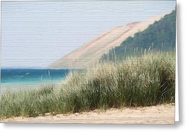 Sleeping Bear Sand Dune Greeting Card by Dan Sproul