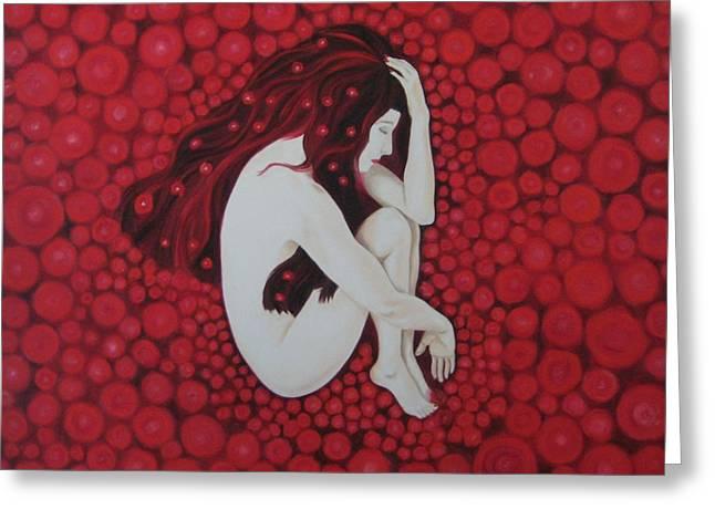 Sleeping Beauty Greeting Card by Jindra Noewi