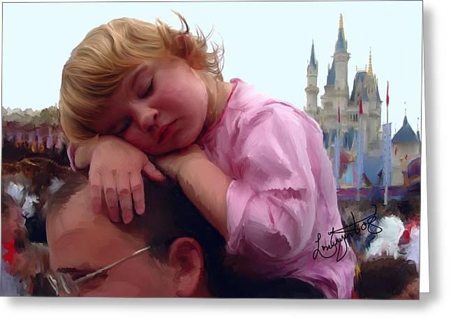Sleeping Beauty Greeting Card by Lori Enyart