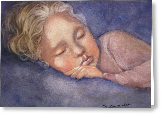 Greeting Card featuring the painting Sleeping Beauty by Marilyn Jacobson