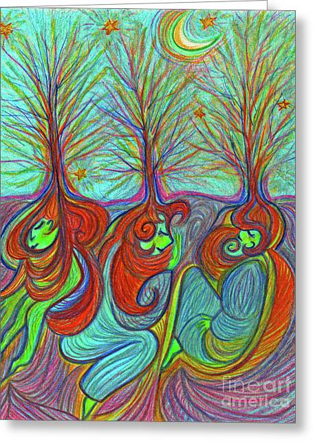 Sleeping Grove By Jrr Greeting Card by First Star Art