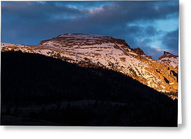 Sleeping Indian At Sunset Greeting Card by Mike Cavaroc