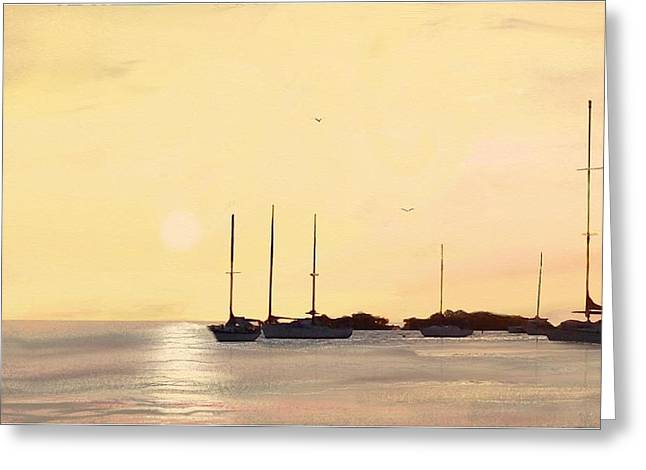 Sleeping Sailboats Greeting Card