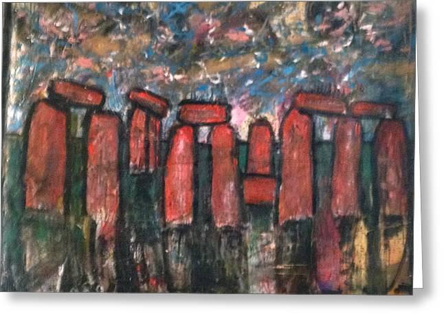 Sleeping Under Stonehenge Greeting Card by Charles Long