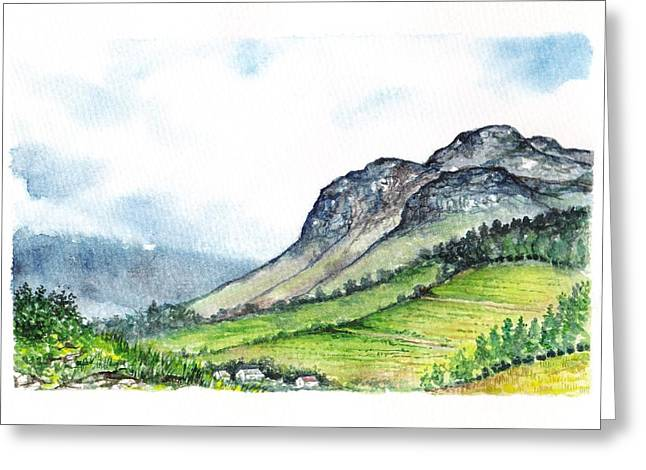 Greeting Card featuring the painting Sleeping Valley by Heidi Kriel