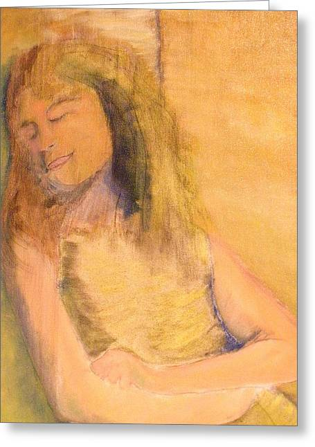 Sleeping With Baby Greeting Card by J Bauer