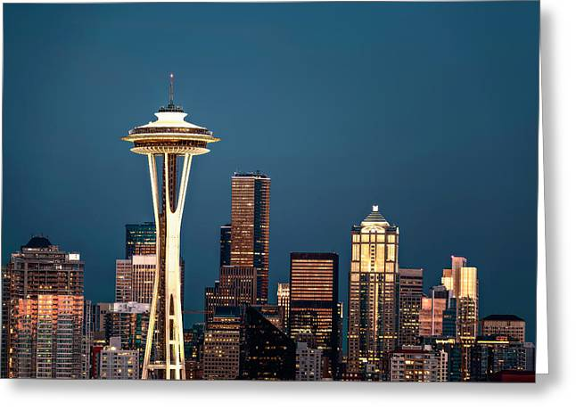 Greeting Card featuring the photograph Sleepless In Seattle by Eduard Moldoveanu