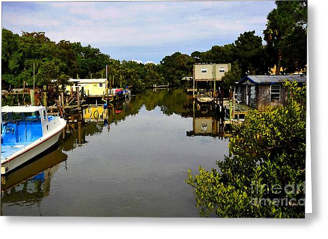 Sleepy Cedar Key Florida Greeting Card by David Lee Thompson