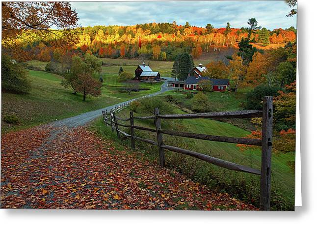 Sleepy Hollow Farm- Pomfret Vt Greeting Card