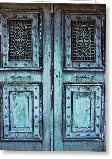Sleepy Hollow Mausoleum Doors Greeting Card by Colleen Kammerer & Sleepy Hollow Mausoleum Doors Photograph by Colleen Kammerer Pezcame.Com
