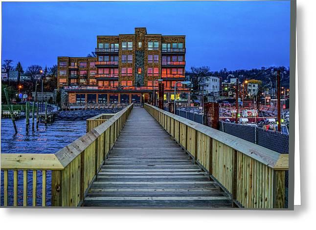 Sleepy Hollow Pier Greeting Card by Jeffrey Friedkin