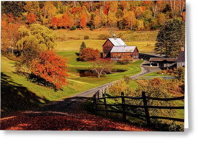 Sleepy Hollow - Pomfret Vermont-2 Greeting Card