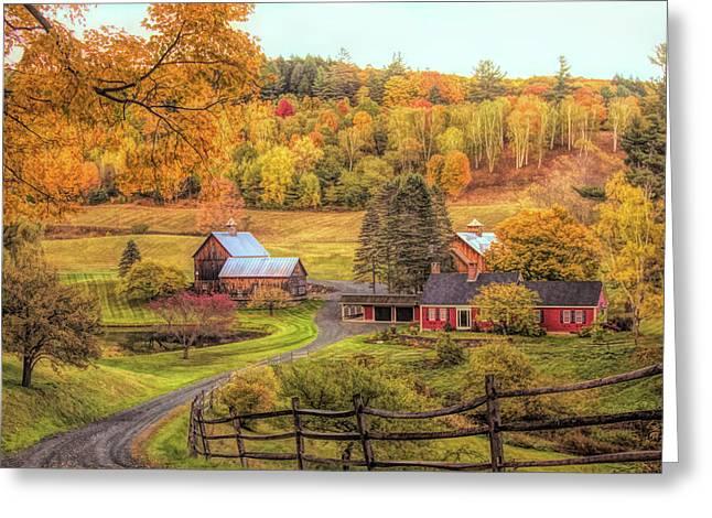Sleepy Hollow - Pomfret Vermont In Autumn Greeting Card