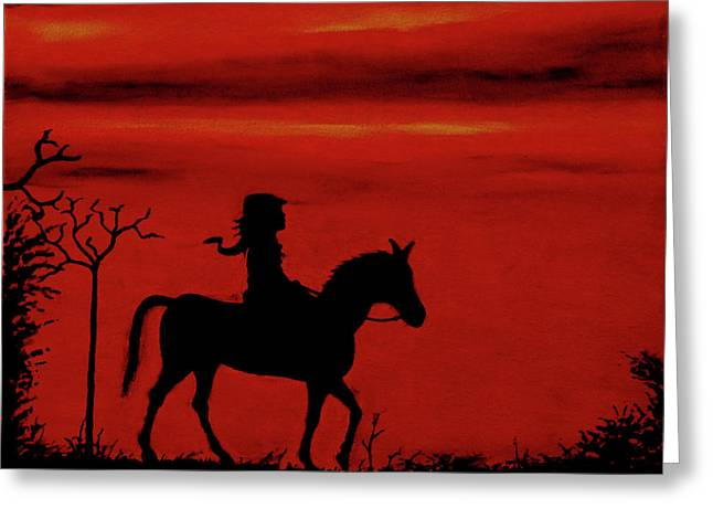 Sleepy Hollow Greeting Card by Robert Marquiss