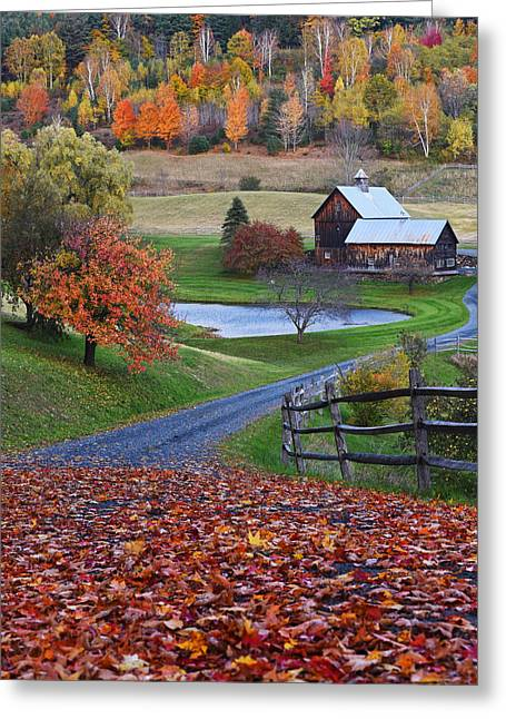 Sleepy Hollows Farm Woodstock Vermont Vt Greeting Card by Toby McGuire