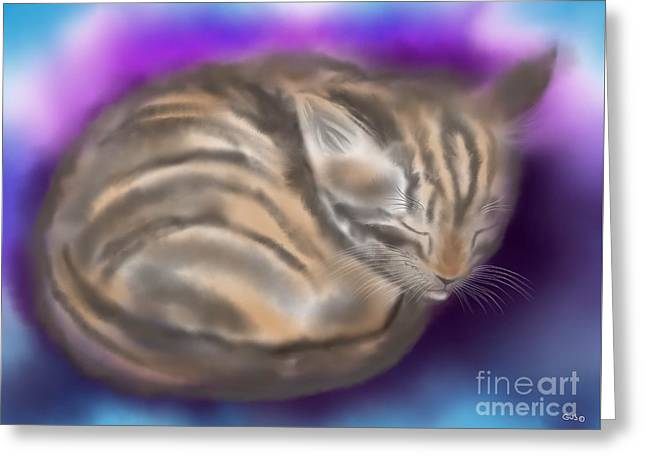 Greeting Card featuring the painting Sleepy Sam by Nick Gustafson