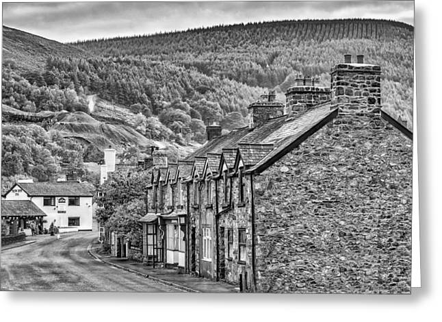 Sleepy Welsh Village Greeting Card