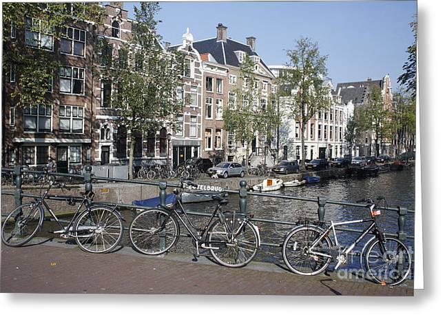Sleutelbrug Amsterdam Greeting Card by Wilko Van de Kamp