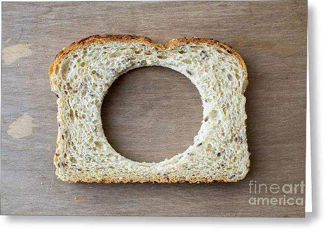 Slice Of Bread With Missing Center Greeting Card by Edward Fielding