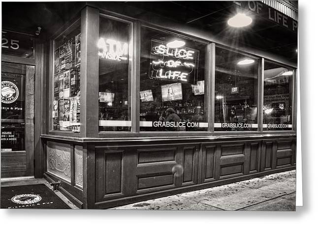 Slice Of Life In Wilmington North Carolina In Black And White Greeting Card