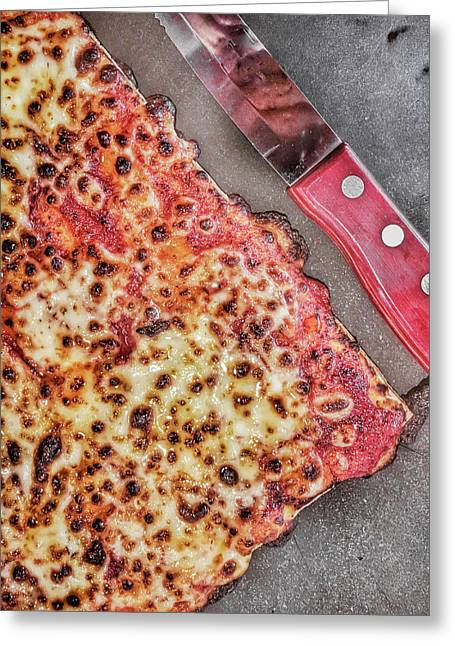 Slice Of Pizza Greeting Card by Tom Gowanlock
