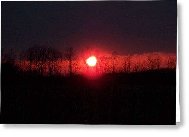 Slice Sunset Greeting Card