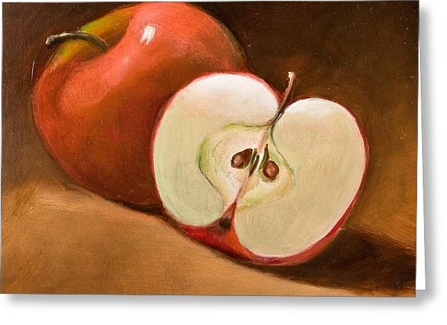 Sliced Apple Greeting Card by Joni Dipirro