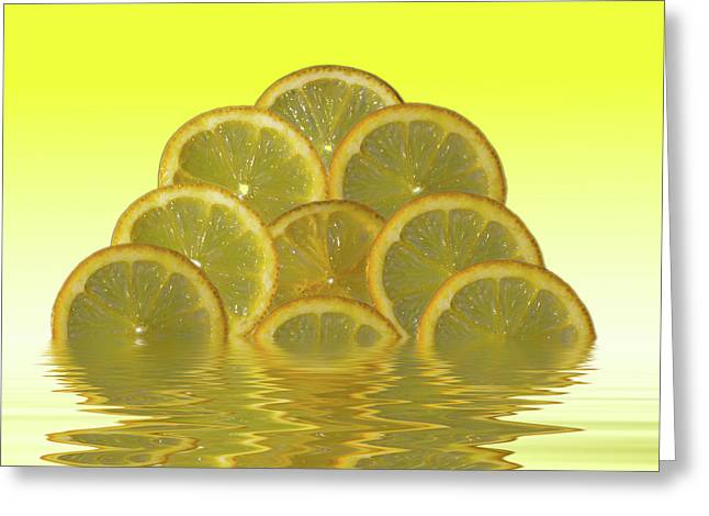 Slices Lemon Citrus Fruit Greeting Card by David French