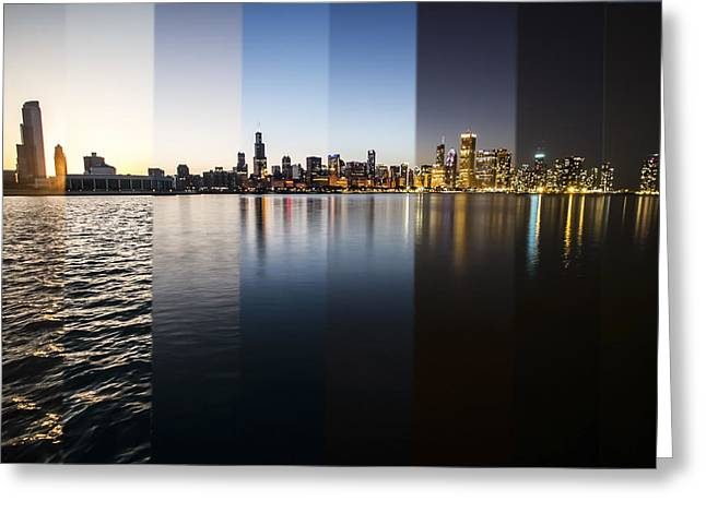 Slices Of The Chicago Skyline Greeting Card