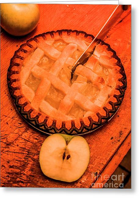 Slicing Apple Pie Greeting Card