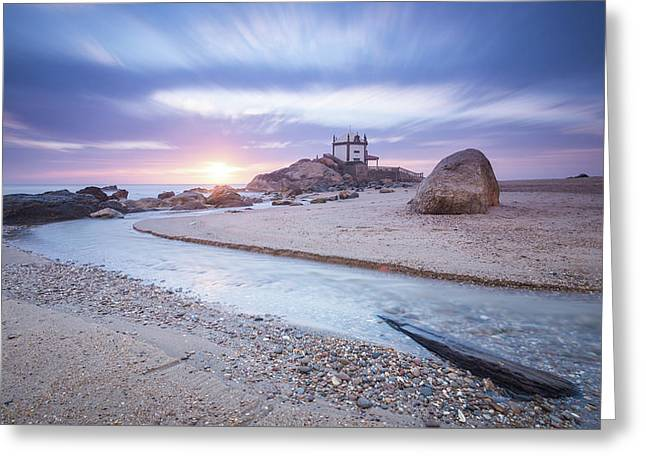 Greeting Card featuring the photograph Sliding Into Time by Bruno Rosa