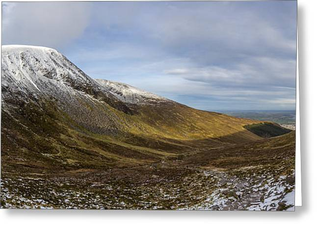 Slieve Commedagh And Slieve Donard Panorama From The Assent  Greeting Card