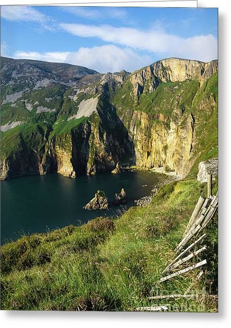 Greeting Card featuring the photograph Slieve League Cliffs Eastern End by RicardMN Photography