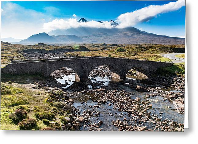 Greeting Card featuring the photograph Skye Cuillin From Sligachan by Gary Eason