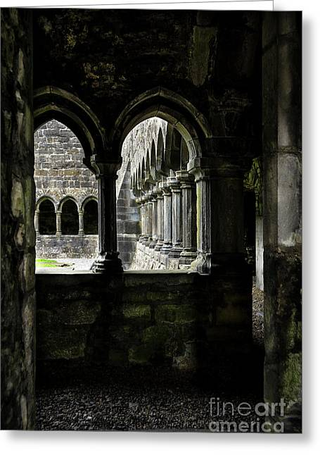 Greeting Card featuring the photograph Sligo Abbey Interior by RicardMN Photography