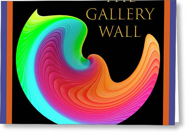 Greeting Card featuring the photograph Slinky Dove Of Peace-the Gallery Wall Logo by Wendy Wilton