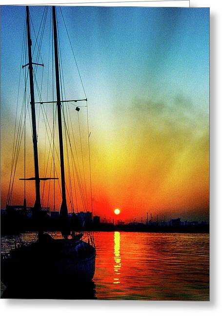 Slipper Island Sunset Greeting Card