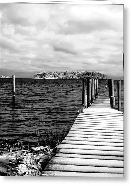 Slippery Dock Greeting Card