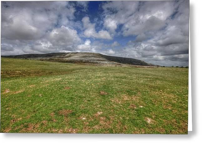 Slive Carran Mountain Greeting Card by John Quinn