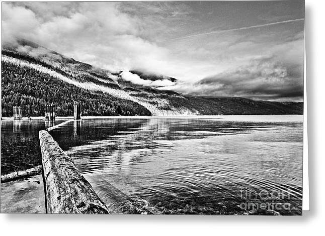 Slocan Lake Bc Greeting Card by Emilio Lovisa