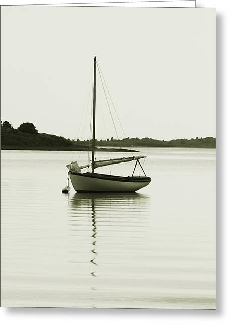 Sloop At Rest  Greeting Card by Roupen  Baker