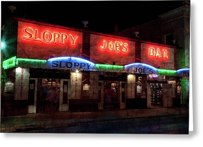 Sloppy Joes Bar Greeting Card by John Stephens