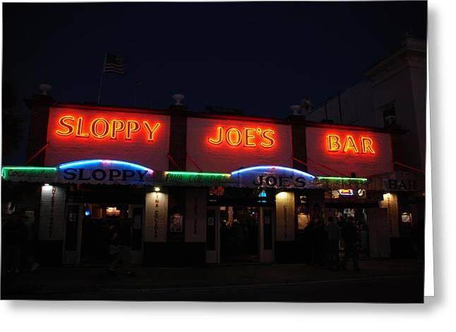 Sloppy Joes By Night Greeting Card by Susanne Van Hulst