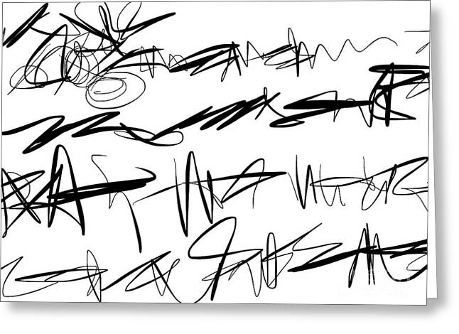 Sloppy Writing Greeting Card